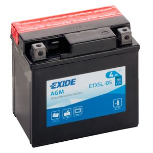 Exide YTX5L-BS 12V Motorcycle Battery ETX5L-BS