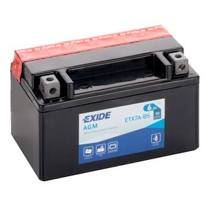 Exide ETX7A-BS 12V Motorcycle Battery YTX7A-BS