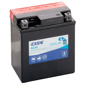 Exide ETX7L-BS 12V Motorcycle Battery YTX7L-BS