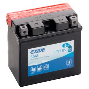 Exide ETZ7-BS 12V Motorcycle Battery YTZ7-BS