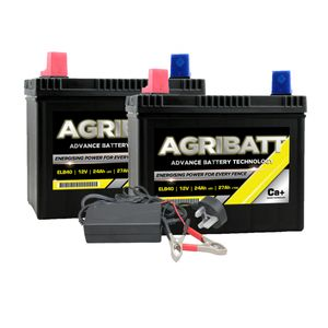 AgriBatt Fit 1 Charge 1 Electric Fence Battery Kit ELB40