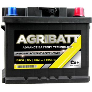 AgriBatt ELB50 Heavy Duty Electric Fence Battery 12V 50Ah c100