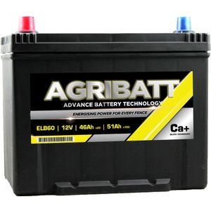 AgriBatt ELB60 Heavy Duty Electric Fence Battery 12V 51Ah c100