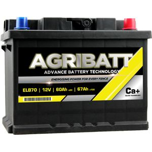 AgriBatt ELB70 Heavy Duty Electric Fence Battery 12V 67Ah c100