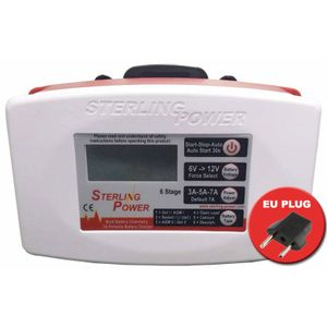 Sterling Power 12V 7A Ultra Portable Battery Charger E127 - EU PLUG