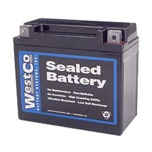 12V20 Westco Motorcycle Battery 12V 18Ah - Replaces YTX20-BS