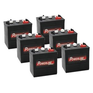 6 x T105 Powerline Deep Cycle Batteries 225Ah