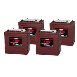 4 x T-105 Trojan Deep Cycle Battery (T105)