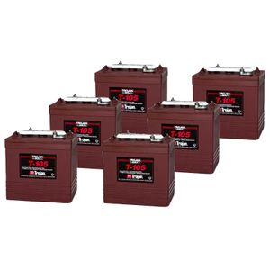 6 x T-105 Trojan Deep Cycle Battery (T105)