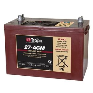 27-AGM Trojan Deep-Cycle AGM Battery