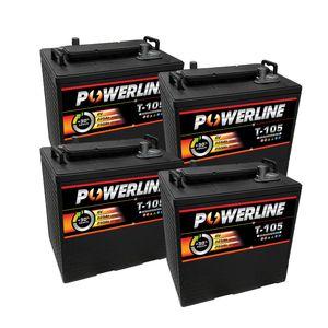 4 x T105 Powerline Deep Cycle Batteries 225Ah