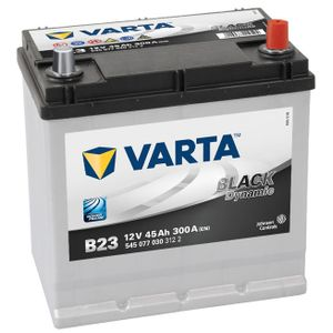 Type 048H Varta Black Dynamic Car Battery 12V 45Ah  (Short Code: B23)  (Varta DIN: 545 077 030)