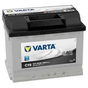 Type 078 Varta Black Dynamic Car Battery 12V 56Ah  (Short Code: C15)  (Varta DIN: 556 401 048)