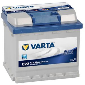 C22 Varta Blue Dynamic Car Battery 12V 52Ah (552400047) (012)