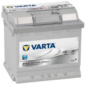 Type 012 Varta C30 Silver Dynamic Car Battery 12V 54Ah   (Varta DIN: 554 400 053)