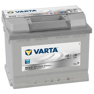 Type 078 Varta Silver Dynamic Car Battery 12V 63Ah  (Short Code: D39)  (Varta DIN: 563401061)